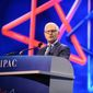 "American Israel Public Affairs Committee CEO Howard Kohr speaks at the AIPAC Policy Conference, which draws 18,000 to Washington this week for a ""celebration"" of the U.S-Israel partnership. (AIPAC)"