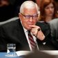 "Sen. Mike Enzi, the Senate Budget Committee chairman, calls his budget plan a ""responsible first step."" (Associated Press)"