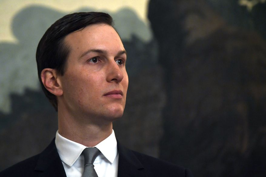 White House adviser Jared Kushner listens during a proclamation signing with President Donald Trump and Israeli Prime Minister Benjamin Netanyahu in the Diplomatic Reception Room at the White House in Washington, Monday, March 25, 2019. (AP Photo/Susan Walsh) ** FILE **
