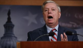 Sen. Lindsey Graham, R-SC., speaks during a news conference on Capitol Hill in Washington, Monday, March 25, 2019. (AP Photo/Carolyn Kaster)