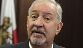 This Friday, Sept. 2, 2016, file photo shows attorney Mark Geragos talking to the media during a news conference in downtown Los Angeles. CNN has cut ties with Mark Geragos just hours after the celebrity attorney was named as a co-conspirator in a case accusing lawyer Michael Avenatti of trying to extort Nike. A CNN representative confirmed Monday, March 25, 2019, that Geragos is no longer a contributor to the network but didn't specify why. His name is no longer listed on CNN's website as a legal analyst. (AP Photo/Richard Vogel, file)