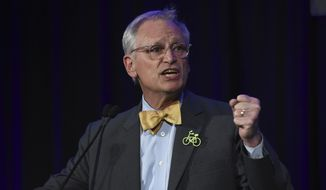In this Nov. 6, 2018, file photo, Rep. Earl Blumenauer, D-Ore., speaks in Portland, Ore. The White House and business groups are stepping up efforts to win congressional approval for the U.S.-Mexico-Canada trade accord. But prospects are uncertain given that Republicans are at odds with some aspects of the plan and Democrats are in no hurry to secure a political victory for the president. (AP Photo/Steve Dykes, File)