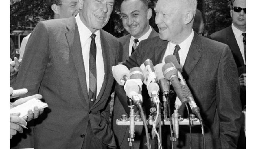 Ronald Reagan and Dwight Eisenhower in 1966    Associated Press photo