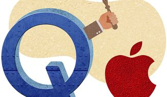 Qualcomm Prevails Over Apple Illustration by Greg Groesch/The Washington Times