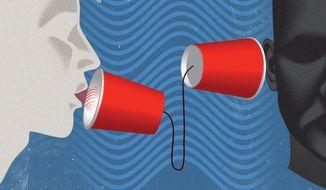 Illustration on poor media behavior by Linas Garsys/The Washington Times