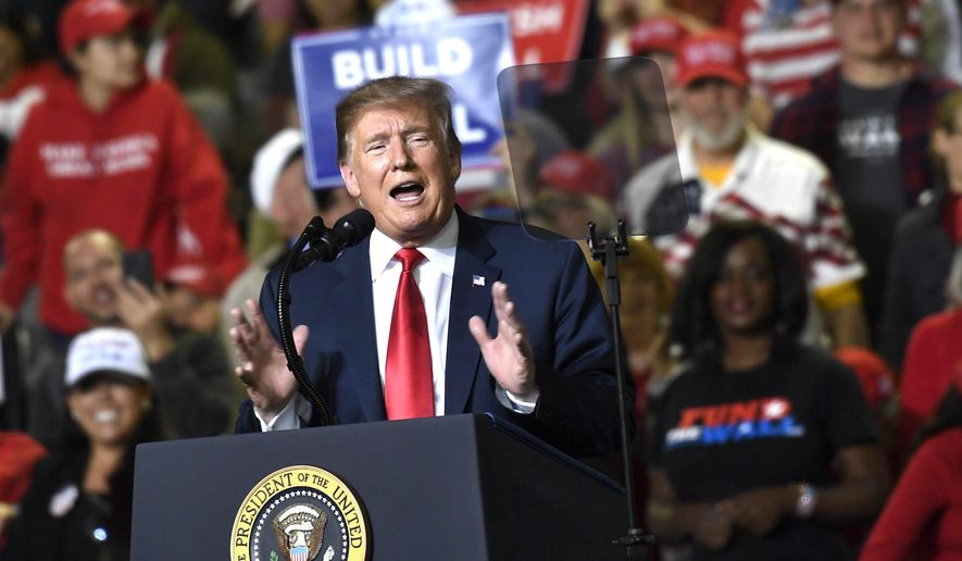 President Trump will hold his 18th rally in the state of Michigan on Thursday when he speaks in front of 12,000 people in Grand Rapids. (Associated Press)