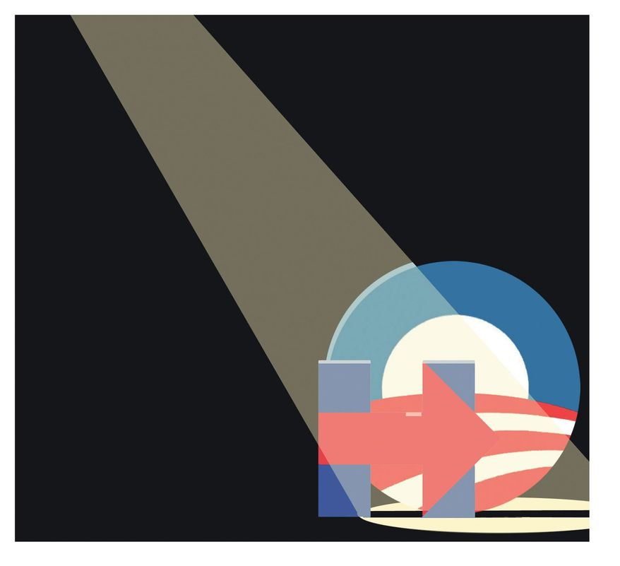 Illustration on the need to investigate Hillary and Obama by Alexander Hunter/The Washington Times