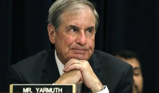 "In this May 24, 2017, file photo, Rep. John Yarmuth, D-Ky., listens to testimony on Capitol Hill in Washington. Budget Committee Chairman John Yarmuth says he's ""not very hopeful"" of passing a budget plan through the House. (AP Photo/Jacquelyn Martin, File)"