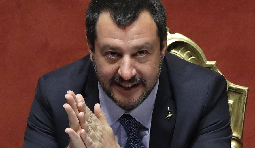 """We are at the front of this European wave. It will cover the continent,"" said Italian Deputy Prime Minister Matteo Salvini, considered one of the most powerful figures in Italy's populist coalition government. (Associated Press/File)"