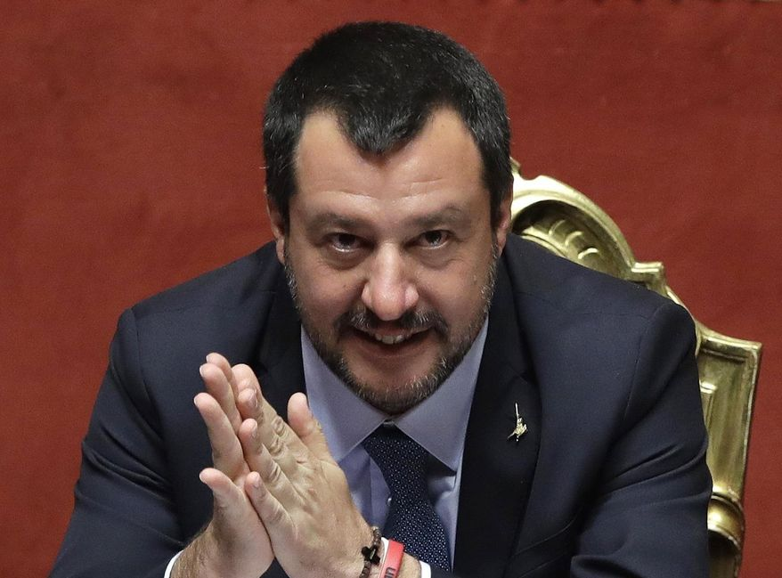 """""""We are at the front of this European wave. It will cover the continent,"""" said Italian Deputy Prime Minister Matteo Salvini, considered one of the most powerful figures in Italy's populist coalition government. (Associated Press/File)"""