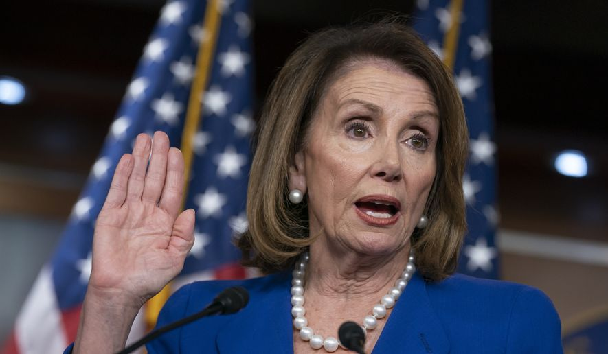 """House Speaker Nancy Pelosi heaps scorn on Attorney General William Barr, saying his letter about special counsel Robert Mueller's report was """"condescending,"""" after Barr concluded there was no evidence that President Donald Trump's campaign """"conspired or coordinated"""" with the Russian government to influence the 2016 election, during a news conference on Capitol Hill in Washington, Thursday, March 28, 2019. (AP Photo/J. Scott Applewhite) ** FILE **"""