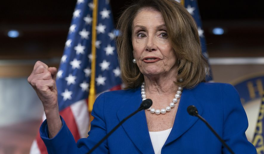 "House Speaker Nancy Pelosi heaps scorn on Attorney General William Barr, saying his letter about special counsel Robert Mueller's report was ""condescending,"" after Barr concluded there was no evidence that President Donald Trump's campaign ""conspired or coordinated"" with the Russian government to influence the 2016 election. (AP Photo/J. Scott Applewhite)"