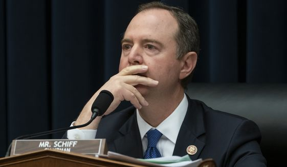 House Intelligence Committee Chairman Adam Schiff, D-Calif., listens as the panel pushed ahead with their oversight of the Trump administration at a hearing to examine how the Russian government works to undermine its adversaries, especially the U.S., on Capitol Hill in Washington, Thursday, March 28, 2019. (AP Photo/J. Scott Applewhite) ** FILE **