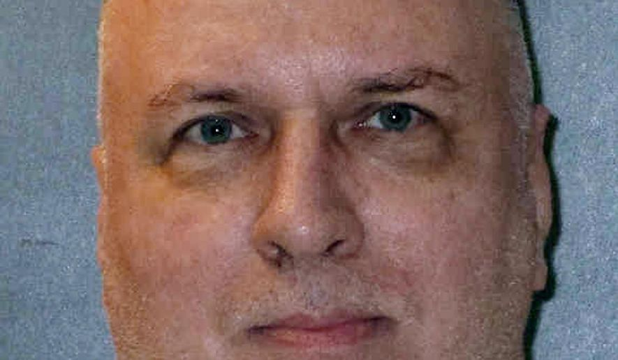"""This undated photo provided by the Texas Department of Criminal Justice shows Patrick Murphy. Lawyers for the member of the notorious """"Texas 7"""" gang of escaped prisoners who is scheduled to be executed Thursday, March 28, 2019, say he should be spared because he never fatally shot a suburban Dallas police officer during a Christmas Eve robbery nearly 18 years earlier. Murphy is slated to die by lethal injection after 6 p.m. at the state penitentiary in Huntsville. (Texas Department of Criminal Justice via AP)"""