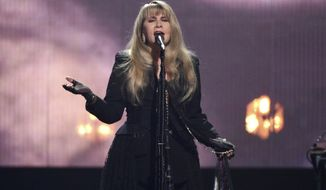 Inductee Stevie Nicks performs at the Rock & Roll Hall of Fame induction ceremony at the Barclays Center on Friday, March 29, 2019, in New York. (Photo by Evan Agostini/Invision/AP)