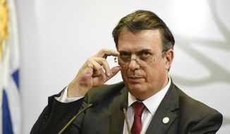 """Mexico's Foreign Affairs minister Marcelo Ebrard wrote on Twitter: """"Mexico doesn't act based on threats."""" He also said the Spanish-speaking country is """"the best neighbor"""" the U.S. could have, saying about 1.5 million U.S. citizens live in Mexico. (Associated Press)"""