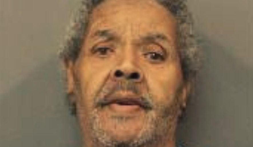 This photo provided by Gary Police Department shows Edward Miller in Gary, Ind.  Miller, who described himself as a retired drag queen,  told authorities he fatally stabbed a 64-year-old man who allegedly used a gay slur during a dispute. Police responded Tuesday, March 26, 2019 to an apartment building in Gary, Ind., and found Carlos Johnson, who had multiple stab wounds. Police say he was taken to a hospital and died. Officers followed a trail of blood from a hallway and found Miller, who was arrested. ( Gary Police Department via AP)