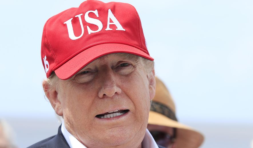 President Donald Trump speaks to reporters during a visit to Lake Okeechobee and Herbert Hoover Dike at Canal Point, Fla., Friday, March 29, 2019. Trump says he will close the nation's southern border, or large sections of it, next week if Mexico does not immediately stop illegal immigration. In a tweet, Trump ramped up his repeated threat to close the border by saying he will do it next week unless Mexico takes action. (AP Photo/Manuel Balce Ceneta) **FILE**
