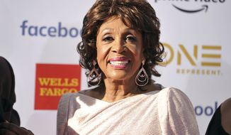 Rep. Maxine Waters, D-Calif., arrives at the 50th annual NAACP Image Awards on Saturday, March 30, 2019, at the Dolby Theatre in Los Angeles. (Photo by Richard Shotwell/Invision/AP)