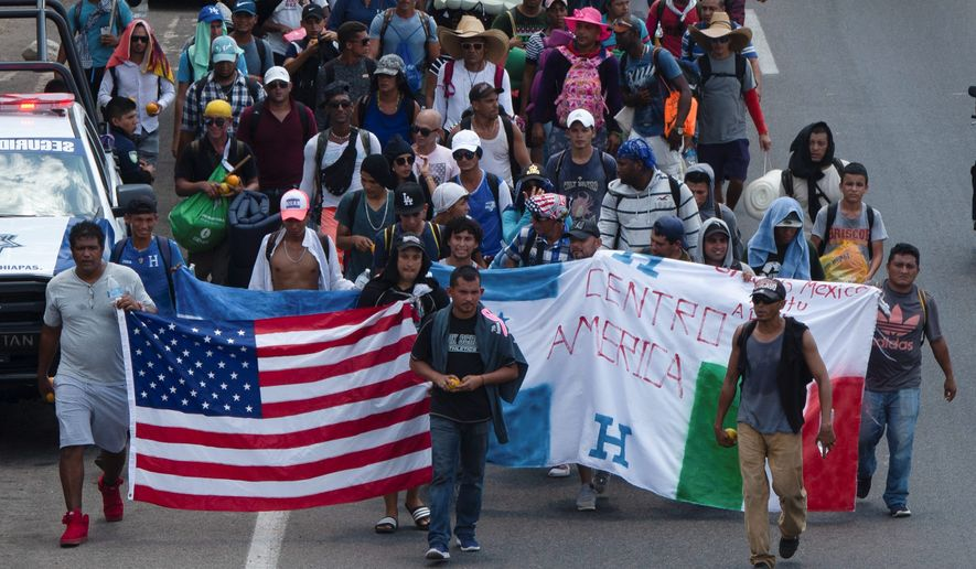 Caravans of Central Americans and Cubans making their way through Mexico are worsening the crisis at the U.S. border, and people at ports of entry will feel the strain. (Associated Press)