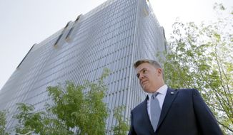 U.S. Attorney John Huber leaves the federal courthouse Friday, July 29, 2016, in Salt Lake City. (AP Photo/Rick Bowmer) ** FILE **