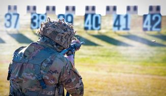 A soldier trains at Fort Benning, Georgia. (Image: Facebook, U.S. Army Fort Benning)