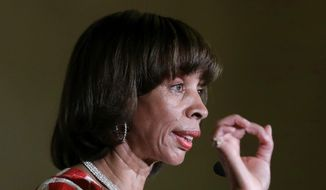 Baltimore Mayor Catherine Pugh delivers an address during her inauguration ceremony inside the War Memorial Building in Baltimore. (AP Photo/Patrick Semansky, File)