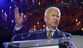 Former Vice President Joe Biden speaks at the Biden Courage Awards Tuesday, March 26, 2019, in New York. (AP Photo/Frank Franklin II) ** FILE **