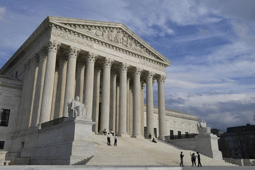 The Supreme Court in Washington is seen here on March 15, 2019. (Associated Press) **FILE**