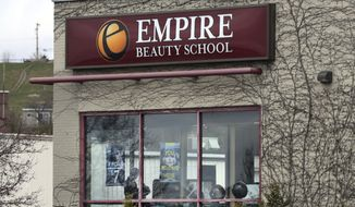 The Empire Beauty School, a for-profit college, is seen Wednesday, April 19, 2017, in Portland, Maine.  (AP Photo/Robert F. Bukaty) **FILE**