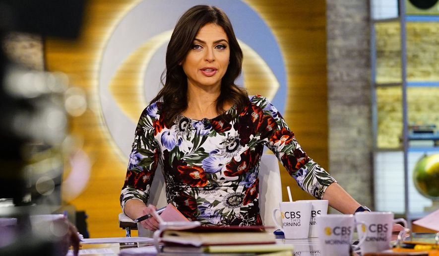 """This Oct. 3, 2018 photo released by CBS shows Bianna Golodryga, one of four hosts on """"CBS This Morning,"""" on the set in New York. Golodryga is leaving the show and the network.  She was told on Monday that CBS News President Susan Zirinsky had different ideas for the show, and was offered other work, but decided to leave CBS instead. (Michele Crowe/CBS via AP)"""