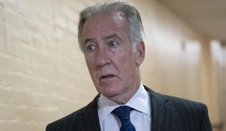 In this April 2, 2019, photo, House Ways and Means Committee Chairman Richard Neal, D-Mass., arrives for a Democratic Caucus meeting at the Capitol in Washington. Neal, whose committee has jurisdiction over all tax issues, has formally requested President Donald Trump's tax returns from the Internal Revenue Service. (AP Photo/J. Scott Applewhite)