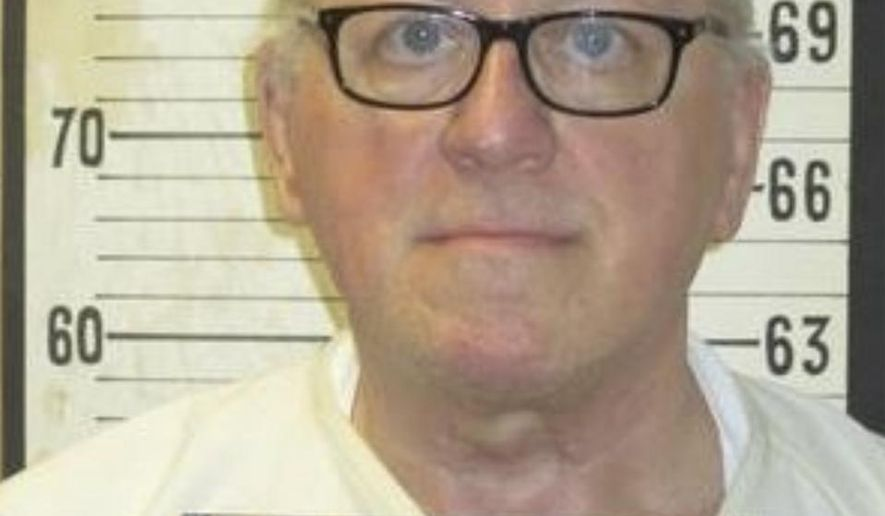This undated image released by the Tennessee Department of Correction shows death row inmate Don Johnson. Supporters of Johnson appealed to Tennessee Gov. Bill Lee's strong Christian faith on Wednesday, April 3, 2019, in requesting clemency for the prisoner they say was redeemed by Jesus. Johnson, 68, was convicted of murdering his wife Connie Johnson in 1984 by suffocating her in a Memphis camping center that he managed. His execution is scheduled for May 16.(Tennessee Department of Corrections via AP)