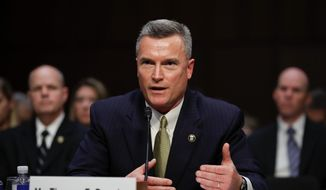 """Thomas Brandon, acting director of the Bureau of Alcohol, Tobacco, Firearms, and Explosives (ATF), testifies during a Senate Judiciary Committee hearing, """"Firearm Accessory Regulation and Enforcing Federal and State Reporting to the National Instant Criminal Background Check System (NICS),"""" on Capitol Hill in Washington, Wednesday, Dec. 6, 2017. (Associated Press) **FILE**"""