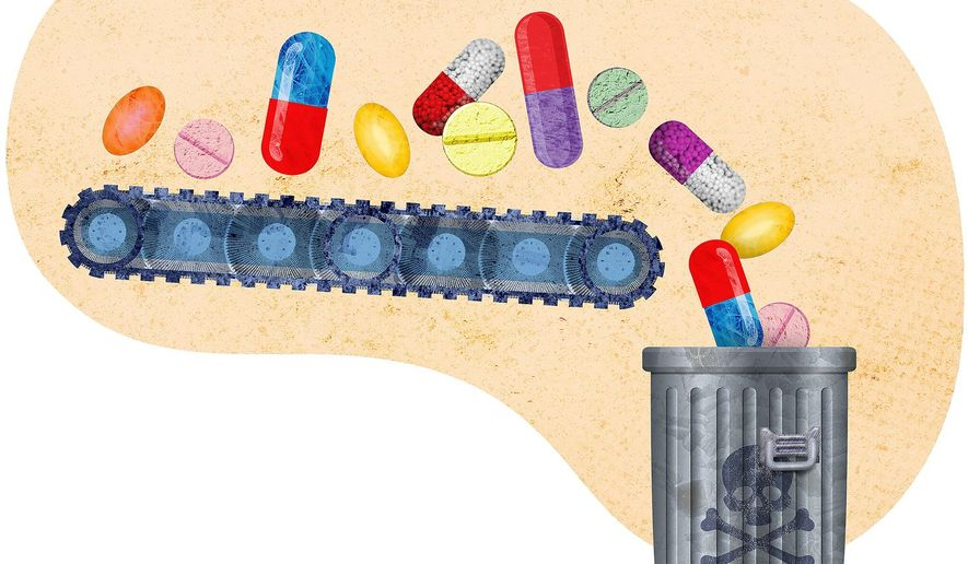 Bad Meds Illustration by Greg Groesch/The Washington Times