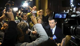 Democratic presidential candidate Pete Buttigieg is an underdog in his quest to clinch the 2020 Democratic presidential nomination. (ASSOCIATED PRESS)