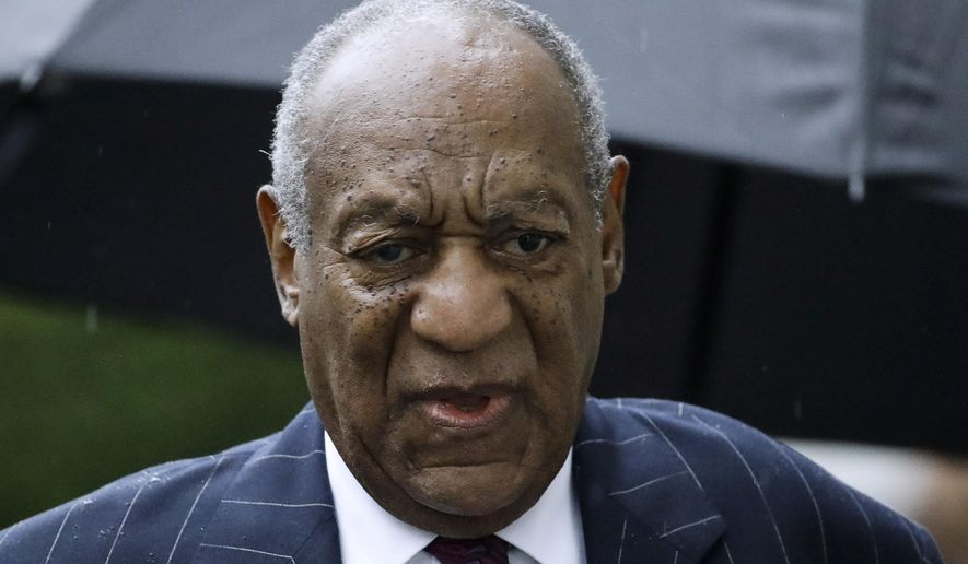 In this Sept. 25, 2018, file photo, Bill Cosby arrives for a sentencing hearing following his sexual assault conviction at the Montgomery County Courthouse in Norristown Pa. Court filings on Friday, April 5, 2019, showed that Cosby has agreed to settle lawsuits in a Massachusetts case filed by seven women who said he defamed them when he accused them of lying about sexual misconduct allegations. (AP Photo/Matt Rourke, File)