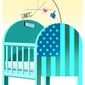 Illustration on the infantilization of American culture by Alexander Hunter/The Washington Times
