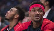 Washington Wizards guard Bradley Beal reacts from the bench during the second half of an NBA basketball game against the New York Knicks, Sunday, April 7, 2019, at Madison Square Garden in New York. The Knicks won 113-110. (AP Photo/Mary Altaffer) **FILE**