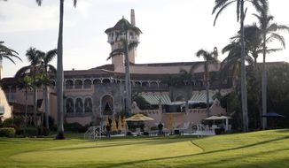 In this Nov. 24, 2017, file photo, President Donald Trump's Mar-a-Lago resort is seen in Palm Beach, Fla.  (AP Photo/Alex Brandon, File) **FILE**