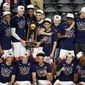 Moments after celebrating their NCAA Tournament championship game victory on Monday, Virginia was made the betting favorite by oddsmakers to repeat as champions. No team has won back-to-back titles since Florida in 2007. (ASSOCIATED PRESS)