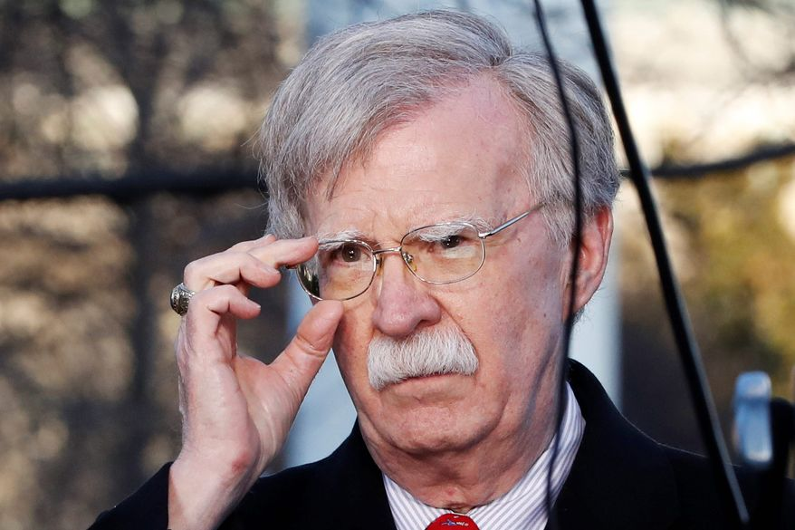 """National Security Adviser John Bolton once said the Djibouti deal showed the """"effects of China's quest to obtain more political, economic and military power."""" (ASSOCIATED PRESS)"""
