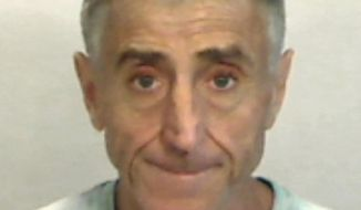 In this April 6, 2019, photo made available by the Monroe County Sheriff's Office, Fla., shows Francis Lippi under arrest. Key West police said Lippi was arrested on a felony charge of grand theft. Lippi recently bought an $8 million island off Key West. He is accused in a scheme to steal $300 in household items from Kmart. (Monroe County Sheriff's Office via AP)