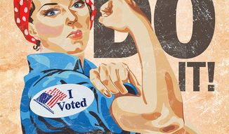 Rosie Voted Illustration by Greg Groesch/The Washington Times