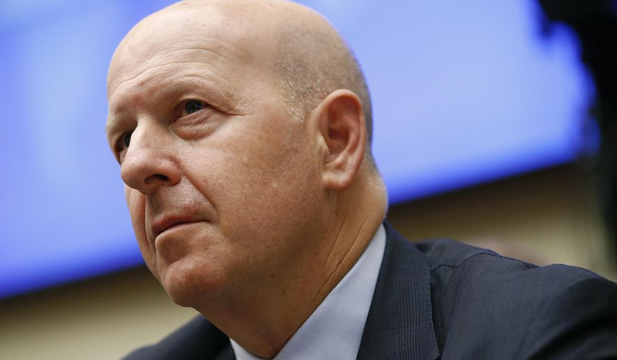 Goldman Sachs chairman and CEO David Solomon testifies before the House Financial Services Commitee during a hearing, Wednesday, April 10, 2019, on Capitol Hill in Washington. (AP Photo/Patrick Semansky)