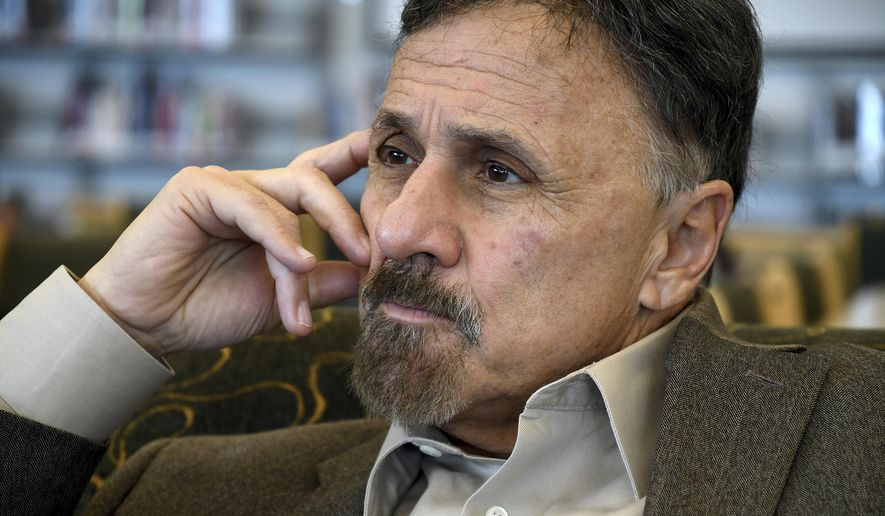 In this March 23, 2019, file photo, former Columbine Principal Frank DeAngelis reflects about the upcoming 20th anniversary of the mass shooting at the suburban Denver high school. (AP Photo/Thomas Peipert, File)
