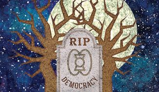 The Death of Western Democracy Illustration by Greg Groesch/The Washington Times