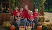 Steve and Bridget Tennes, shown with five of their six children, are fighting the East Lansing city council's effort to bar them from a farmers' market based on their policy against hosting same-sex weddings on their farm in Charlotte, Michigan. (Provided courtesy of Alliance Defending Freedom)