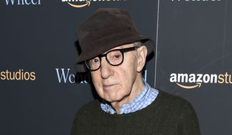 "In this Nov. 14, 2017, file photo, director Woody Allen attends a special screening of ""Wonder Wheel"" in New York. On Friday, April 12, 2019, an Amazon lawyer said the filmmaker breached his four-movie deal with the online giant by making statements about the #MeToo movement that damaged prospects for promoting his films. Attorney Robert Klieger told a Manhattan federal judge that the company protected itself after Allen made comments that at a minimum were insensitive. (Photo by Evan Agostini/Invision/AP, File)"