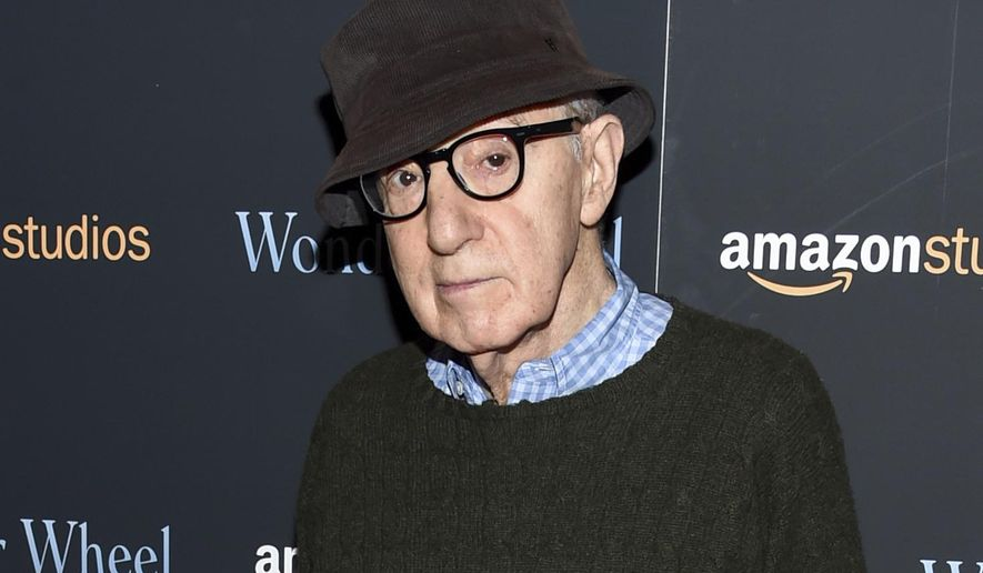 """FILE - In this Nov. 14, 2017 file photo, director Woody Allen attends a special screening of """"Wonder Wheel"""" in New York. On Friday, April 12, 2019, an Amazon lawyer said the filmmaker breached his four-movie deal with the online giant by making statements about the #MeToo movement that damaged prospects for promoting his films. Attorney Robert Klieger told a Manhattan federal judge that the company protected itself after Allen made comments that at a minimum were insensitive. (Photo by Evan Agostini/Invision/AP, File)"""